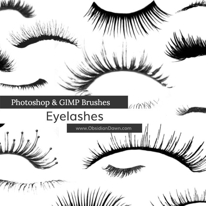 Eyelashes Photoshop  GIMP Brushes Obsidian Dawn