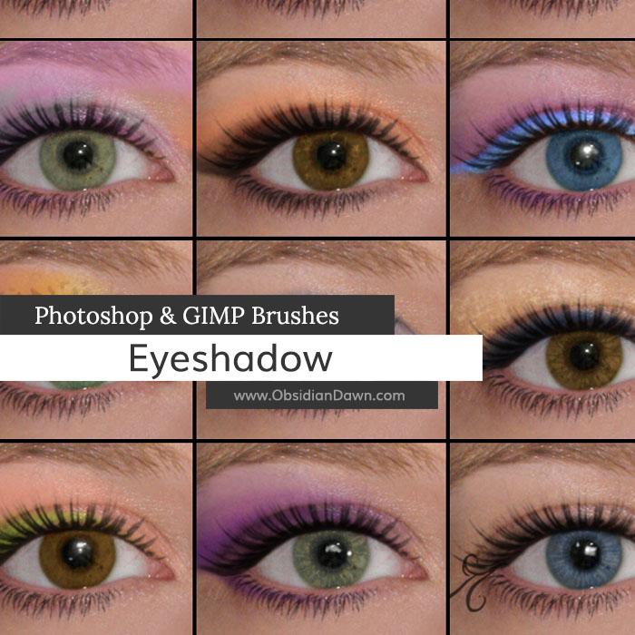 Eyeshadow Photoshop  GIMP Brushes Obsidian Dawn