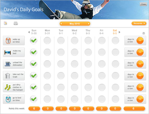 Free Online Chore Charts At GoalForIt Obviously Marvelous