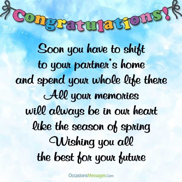Wedding Wishes for Bride - Congratulations Messages for Bride