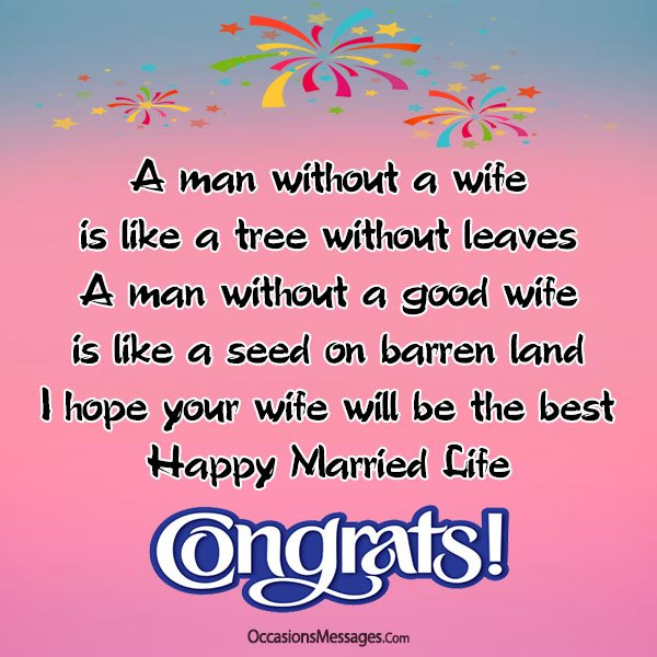 Wedding Wishes and Messages for Son - Occasions Messages
