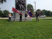 CofCC members gather in Forest Park in defense of the Confederate Battle Flag