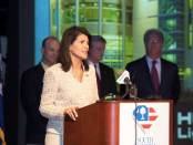 Gov. Nimrata Randhawa Haley leads the South Carolina Chamber of Commerce to victory over the Confederate Battle Flag