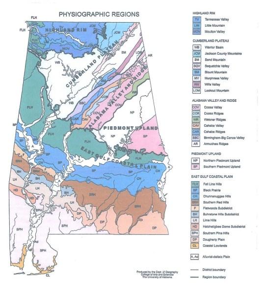 Physiography Of Alabama  Politics