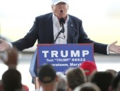 GOP Presidential Candidate Donald Trump Campaigns In Maryland Ahead Of State's Primary
