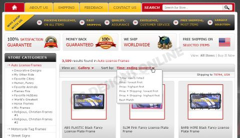 TagExpress Takes Advantage of eBay Store Design and Category Page - ebay store templates