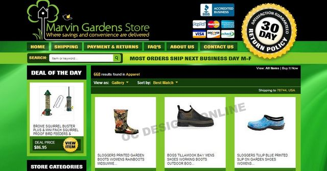 Home  Garden Store Gets eBay Store Design  Matching Listing Template - ebay store templates