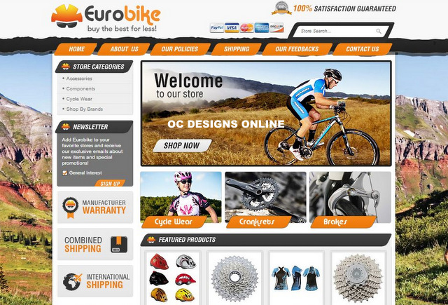 Bike Shops It\u0027s Easy to Get a Custom eBay Store Design