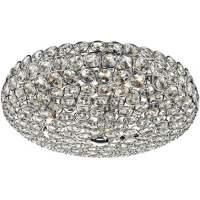 Dar FRO5450   Frost 5 Light Flush Ceiling Light   Crystal ...