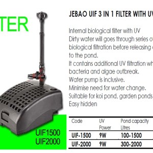 JEBAO UIF-1500 3 in1 Filter UV