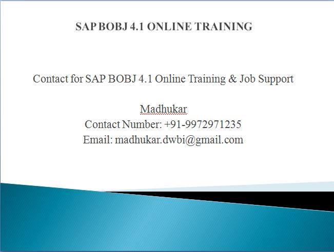 SAP BO 42 Training Videos - SAP BO Tutorial for Beginners - sap for beginners