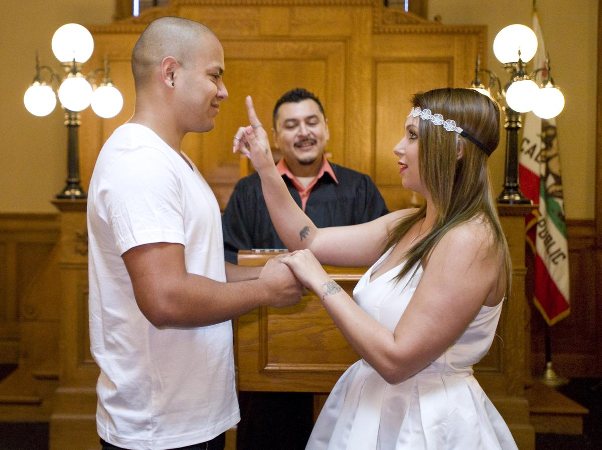 civil wedding ceremony in los angeles ca civil wedding ceremony dresses Valentine S Day Weddings Can Be A Family Affair Orange County Register Civil Wedding Ceremony