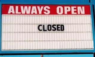 12 Hilarious Closed Signs - closed signs, hilarious signs - Oddee