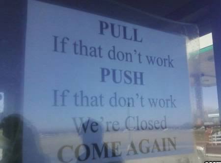 12 Hilarious Closed Signs - closed signs, hilarious signs - Oddee - holiday closure sign template