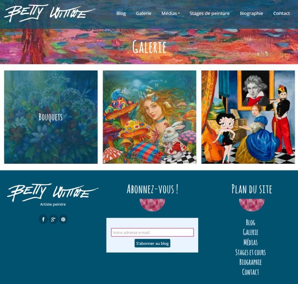 Site internet de Betty Wittwe