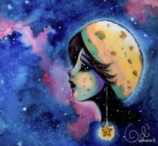 Lunénette, fille lune