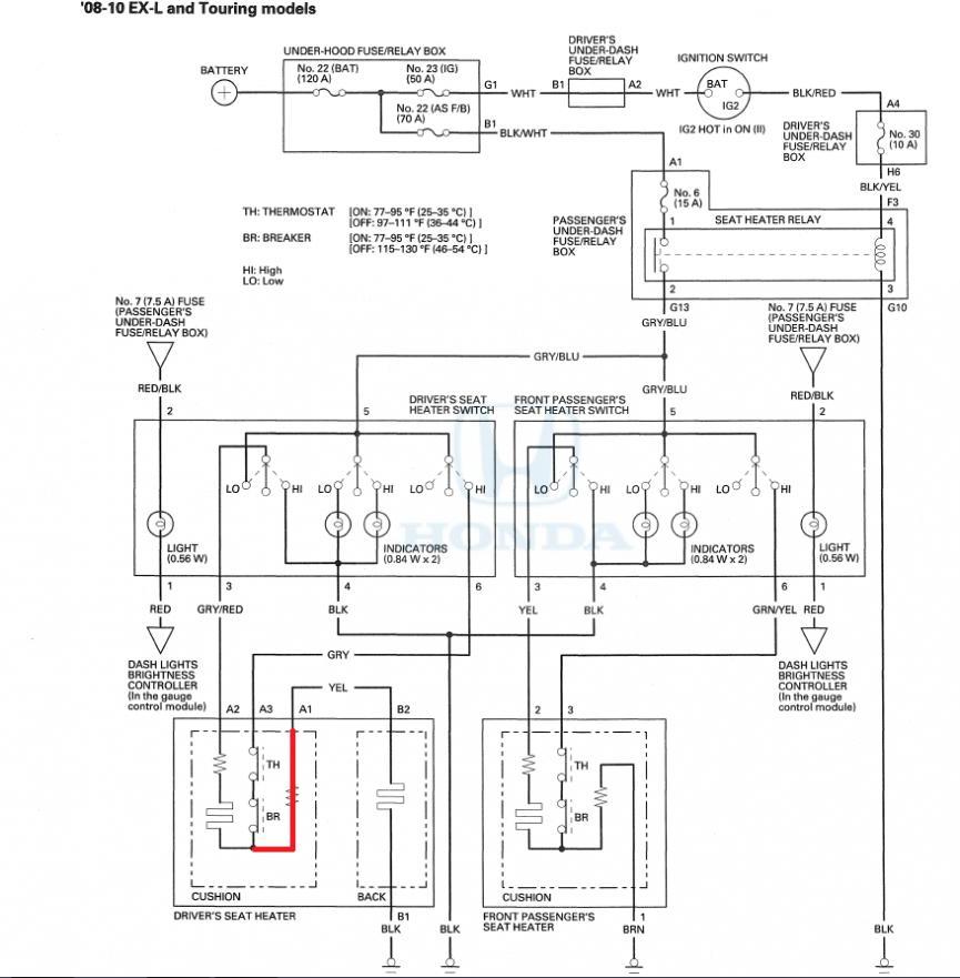 Seat Heater Wiring Diagram Discrepancy?