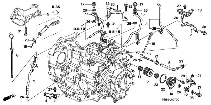 2004 honda Motor diagram