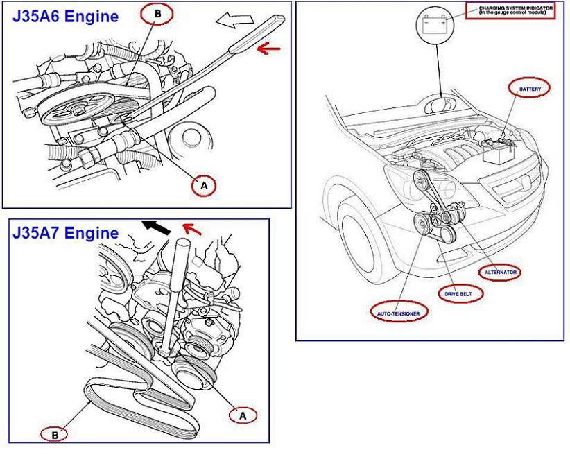 Honda Odyssey 2006 Serpentine Belt Diagram - Wiring Diagram Write