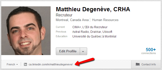 telecharger son cv dans profil linkedin