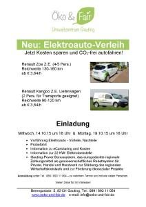 Einladung E-Car-Sharing Vorführung