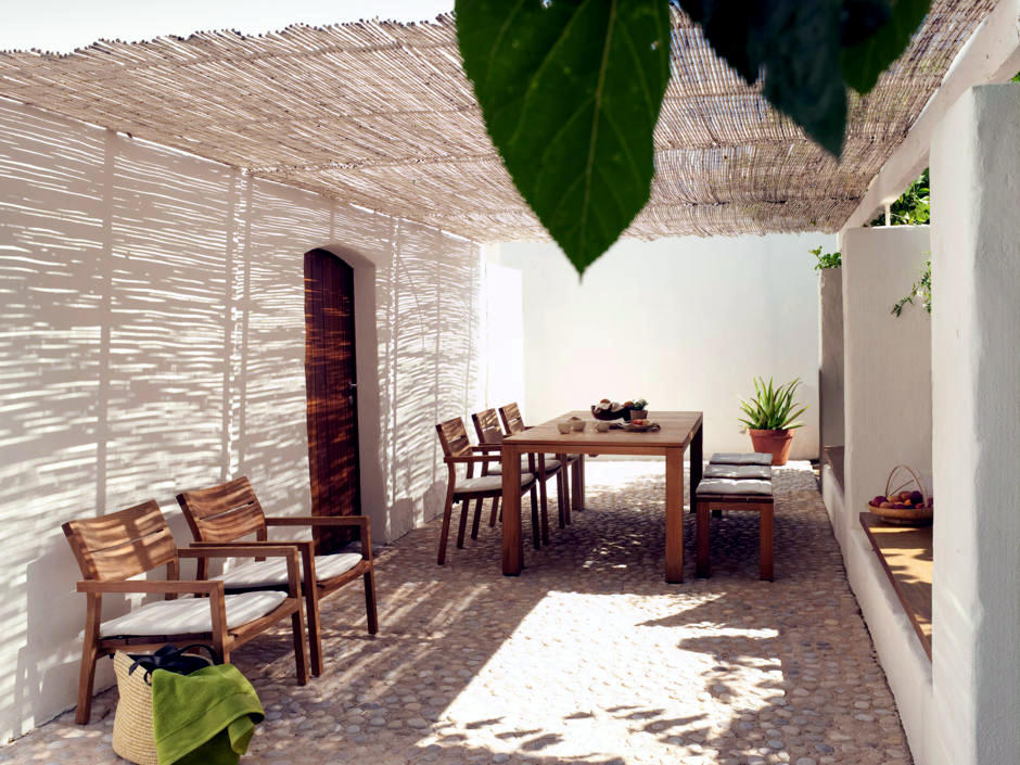 Opening In The Roof Bamboo Mats Interior Design Ideas