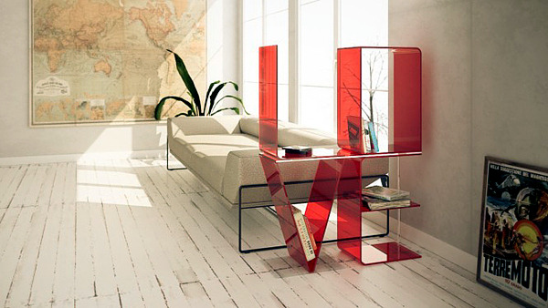 Ricard Mollon shelves design can be expressed in words Interior