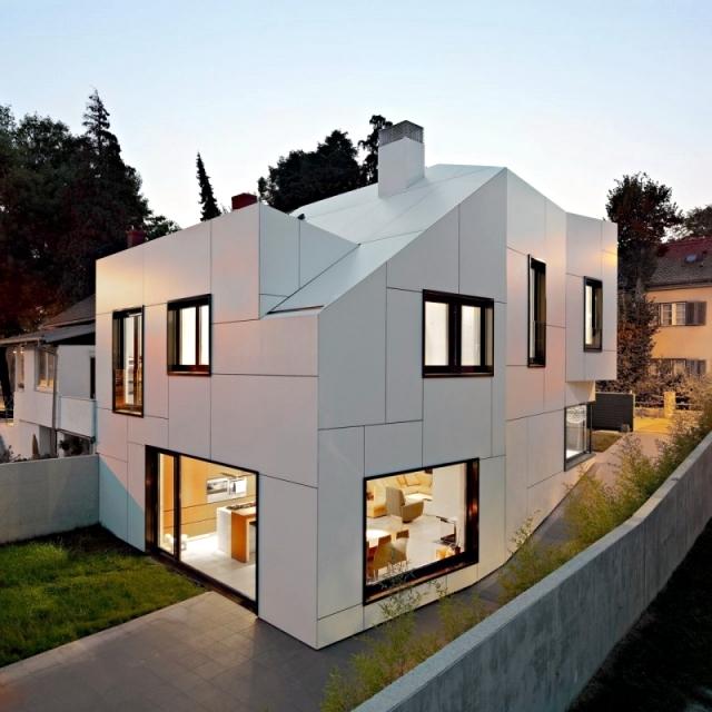 A a dva arhitekta a white house with an abstract