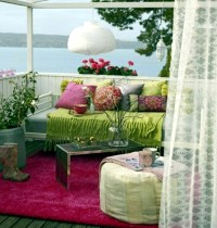 Balcony in summer  colorful decoration ideas for outdoor ...
