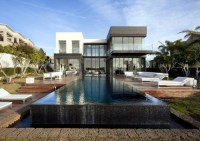 Modern house with pool promises a good time outdoors ...