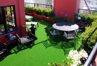 The synthetic grass for balcony and terrace  Easy to ...