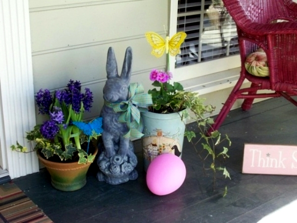 Outdoor Easter Decorations 27 Ideas For The Garden And