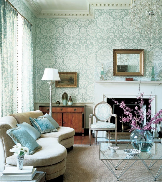 Creative wall design in the living room u2013 ideas for colorful - wallpaper ideas for living room