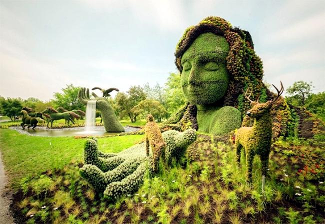 Sustainable Garden Art Garden fascinating sculptures of plants - sustainable garden design