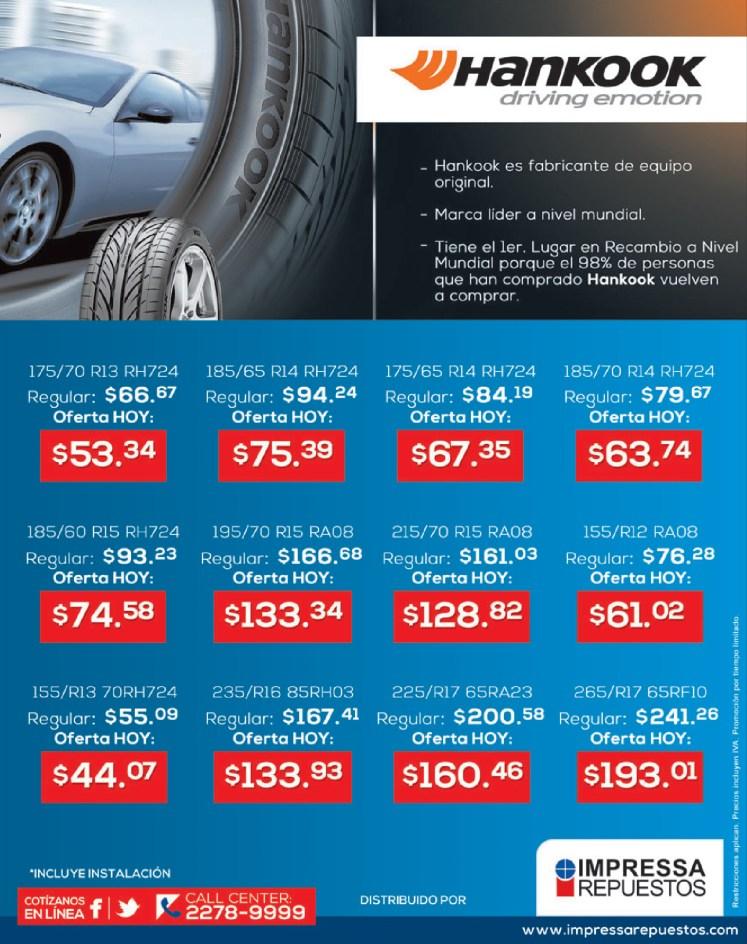 Hankook TIRES ofertas y promociones en llantas - 21oct13