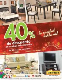 Descuentos La Curacao en muebles seleccionados - 15nov13