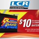 LCR La Casa del Repuesto te regala 10 dolares en baterias - 15nov13