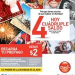 Recargas CLARO hoy cuadruple saldo - 15nov13