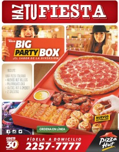 PIZZA HUT promocion big party box - 20dic13