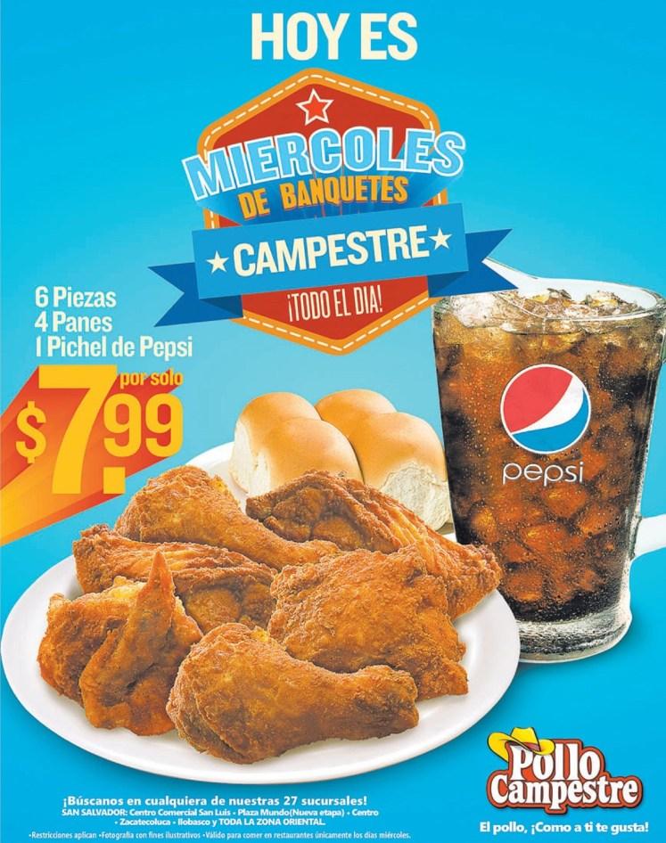 Miercoles de Banquetes campestre HOY en POLLO CAMPESTRE - 05feb14