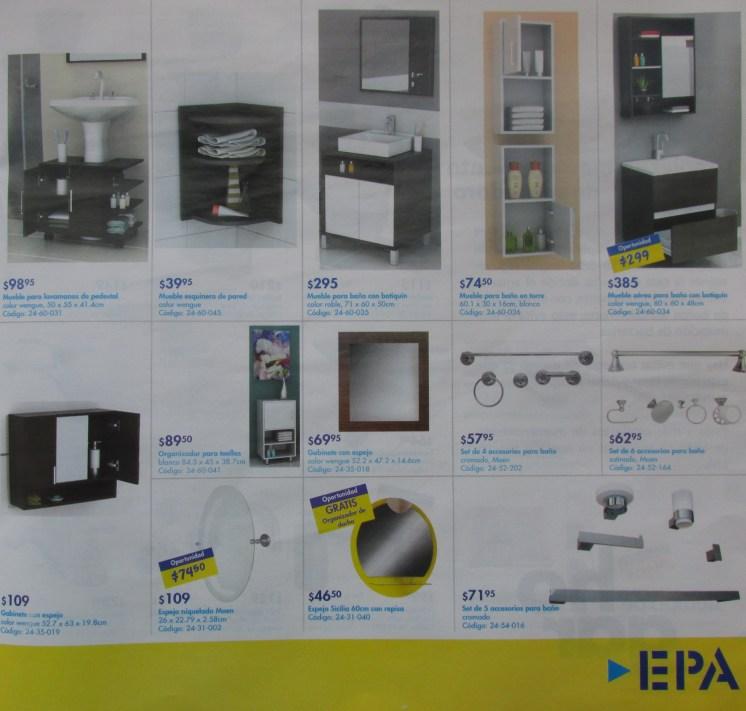 Muebles para baño organizador set el salvador EPA ofertas - feb 2014