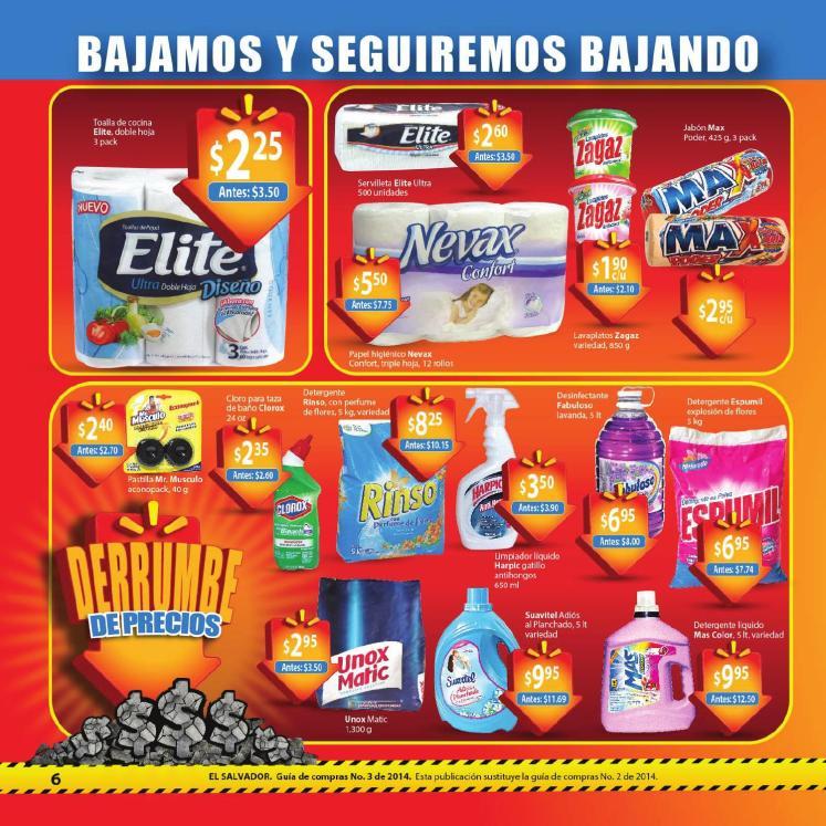 Walmart Guia de compras No3  detergentes limpieza