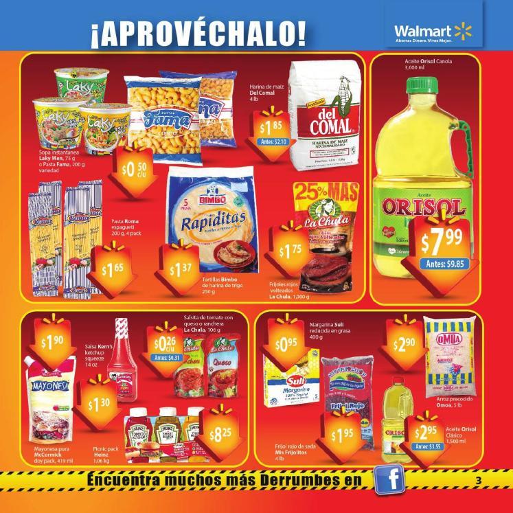 ofertas Walmart Guia de compras No3 pastas aceites salsas