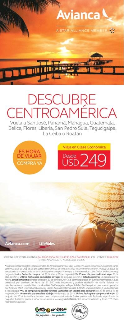 AVIANCA descubre centroamerica vuelos diarios - 28abr14