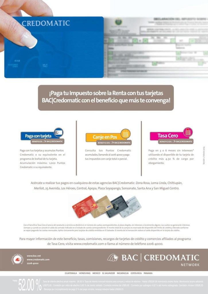 paga impuesto de la renta con BAC CREDOMATIC - 21abr14