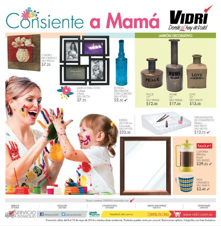Ferreteria VIDRI consiente a mama 2014