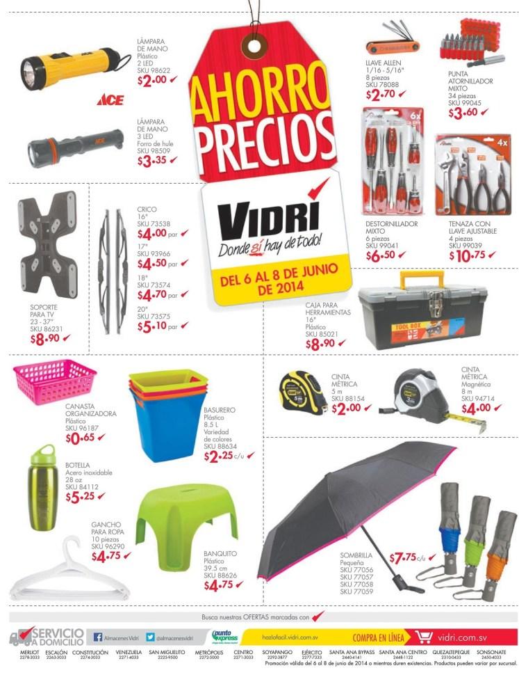 AHORRO precios FERRETERIA VIDRI el salvador - 06jun14