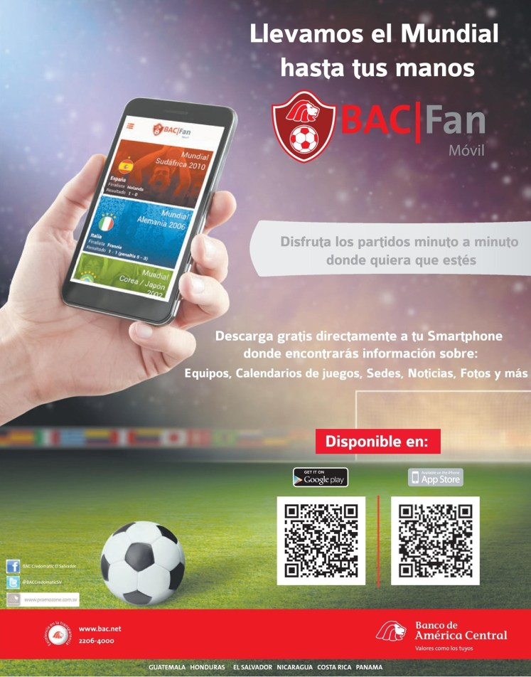 Descarga APP Mundial FAN BAC Credomatic - 13jun14