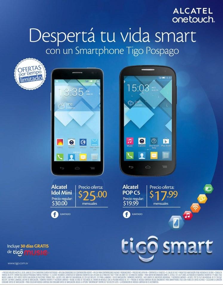 Ofertas PLANES smartphone TIGO el salvador - 27jun14
