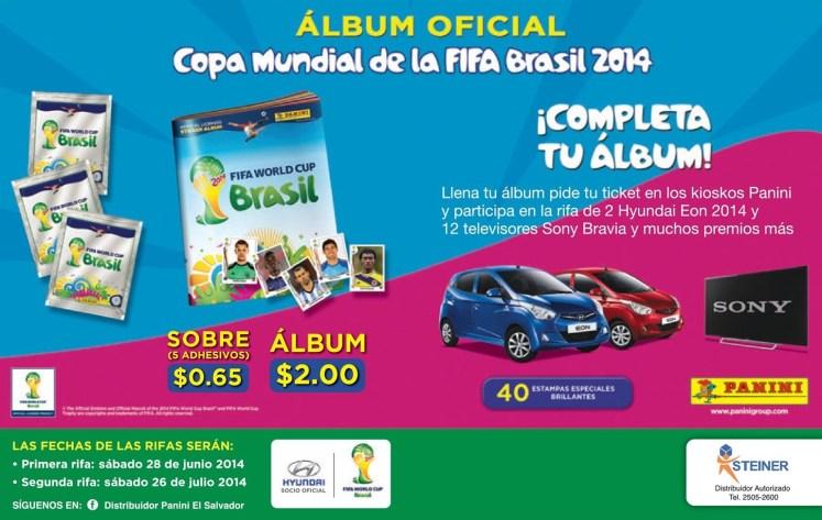 PANINI album oficial copa mundial de la FIFA Brasil 2014